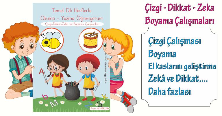 çizgi Dikkat Zeka Ve Boyama çalışmaları Ercan Akmercan